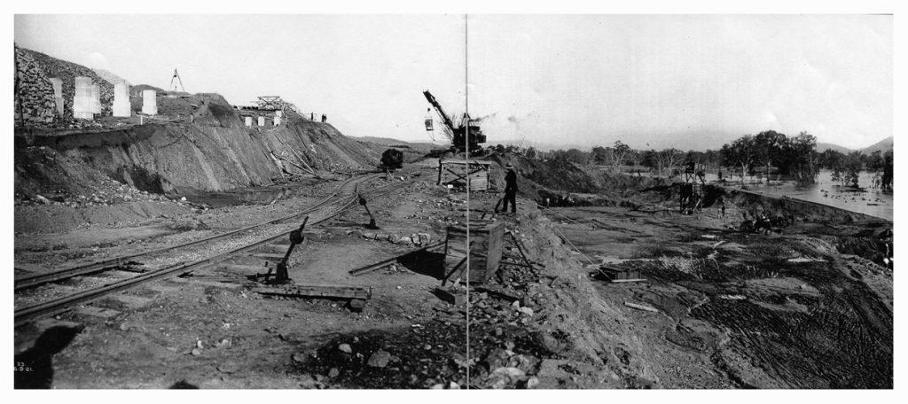 1921 excavation of dam site