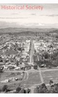 Dean St Albury from the air 1930s