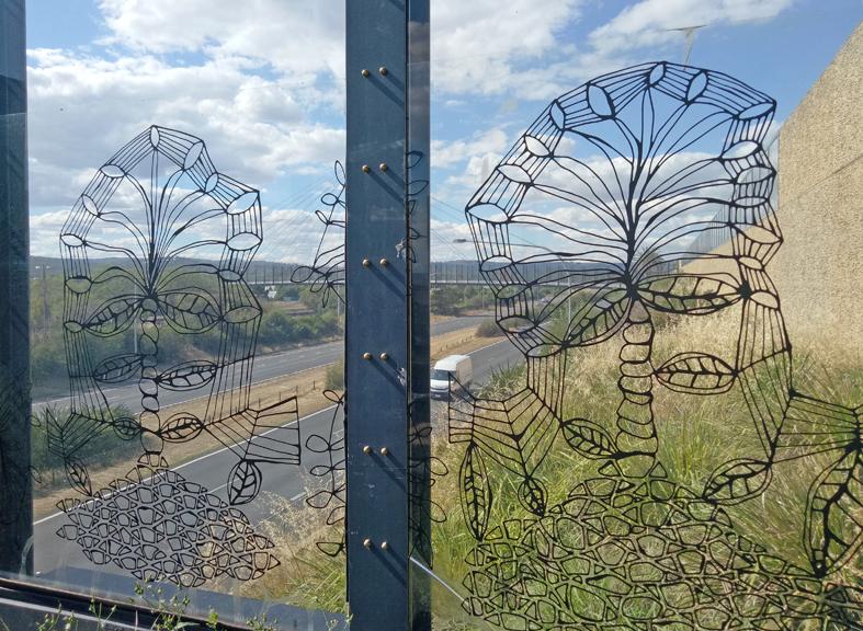 Artwork of footbridge panels Kenilworth St Albury