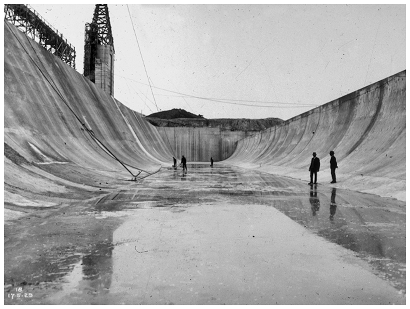 1929 Spillway and distilling basin
