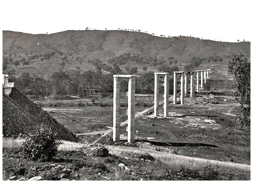 Bethanga Bridge construction 05