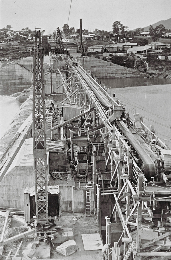 c1928 Hume Weir conveyor belt and NSW work site