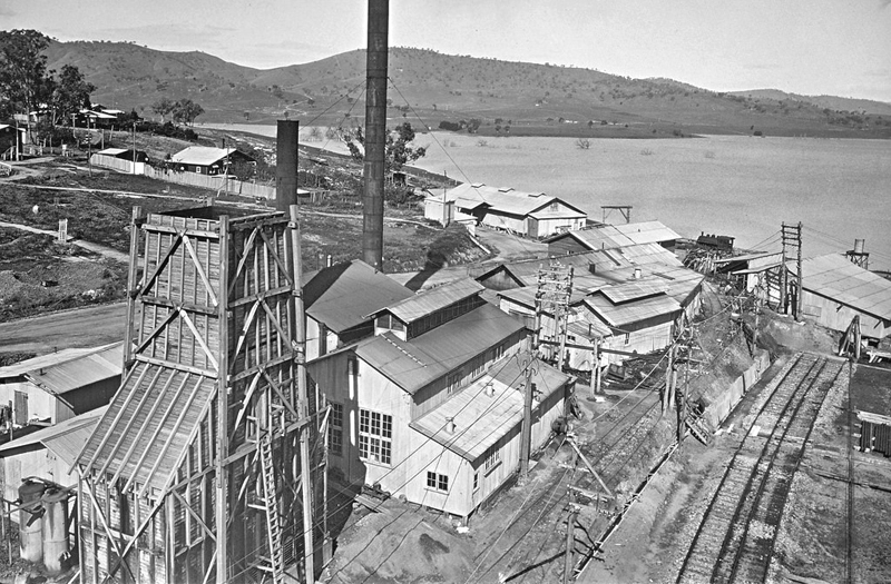 c1930 NSW works site from top of flying-fox tower